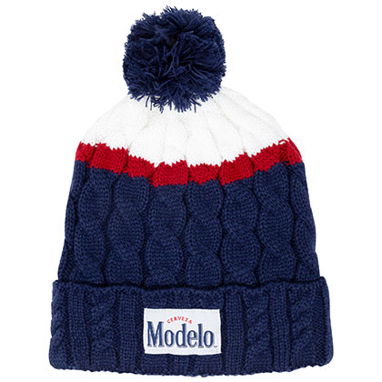 Modelo Winter Pom Navy Blue Beanie