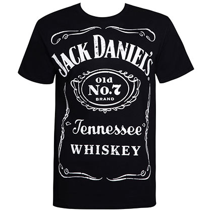 Jack Daniels Men's Black Big Label T-Shirt