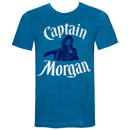 Captain Morgan Men's Teal Portrait T-Shirt