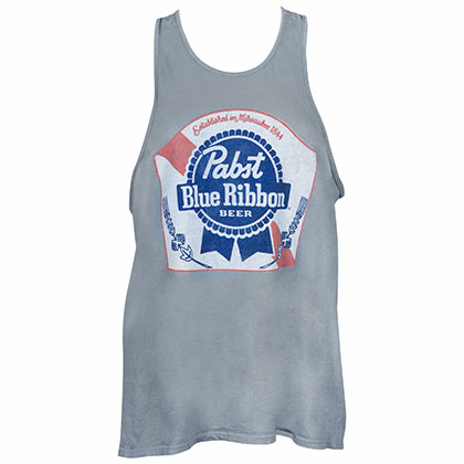 Pabst Blue Ribbon Women's Grey Tank Top