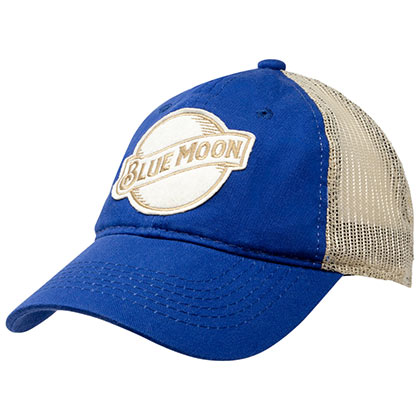 Blue Moon White And Blue Trucker Hat