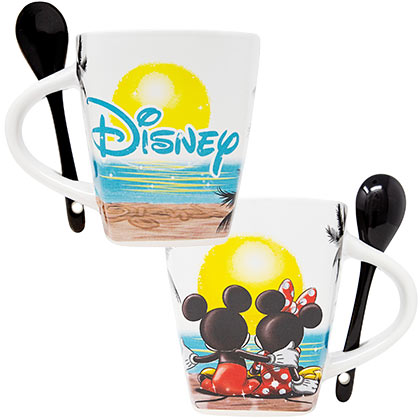 Mickey Mouse Disney Sunset Mug With Spoon