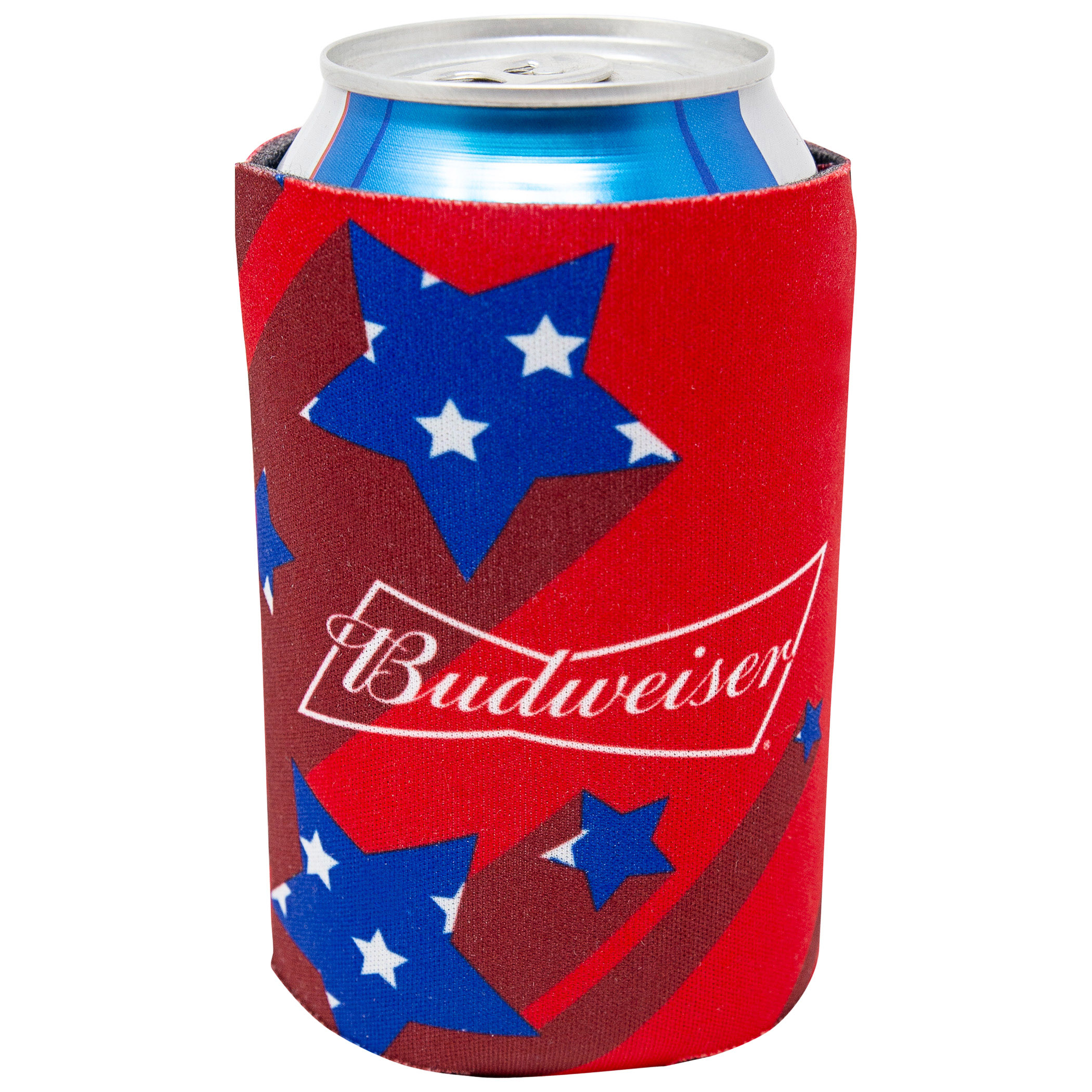 Budweiser Beer Red Shooting Stars Can Cooler
