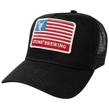 87f4cb4b3df4d6 Adjustable Black Mesh America Trucker Snapback Hat