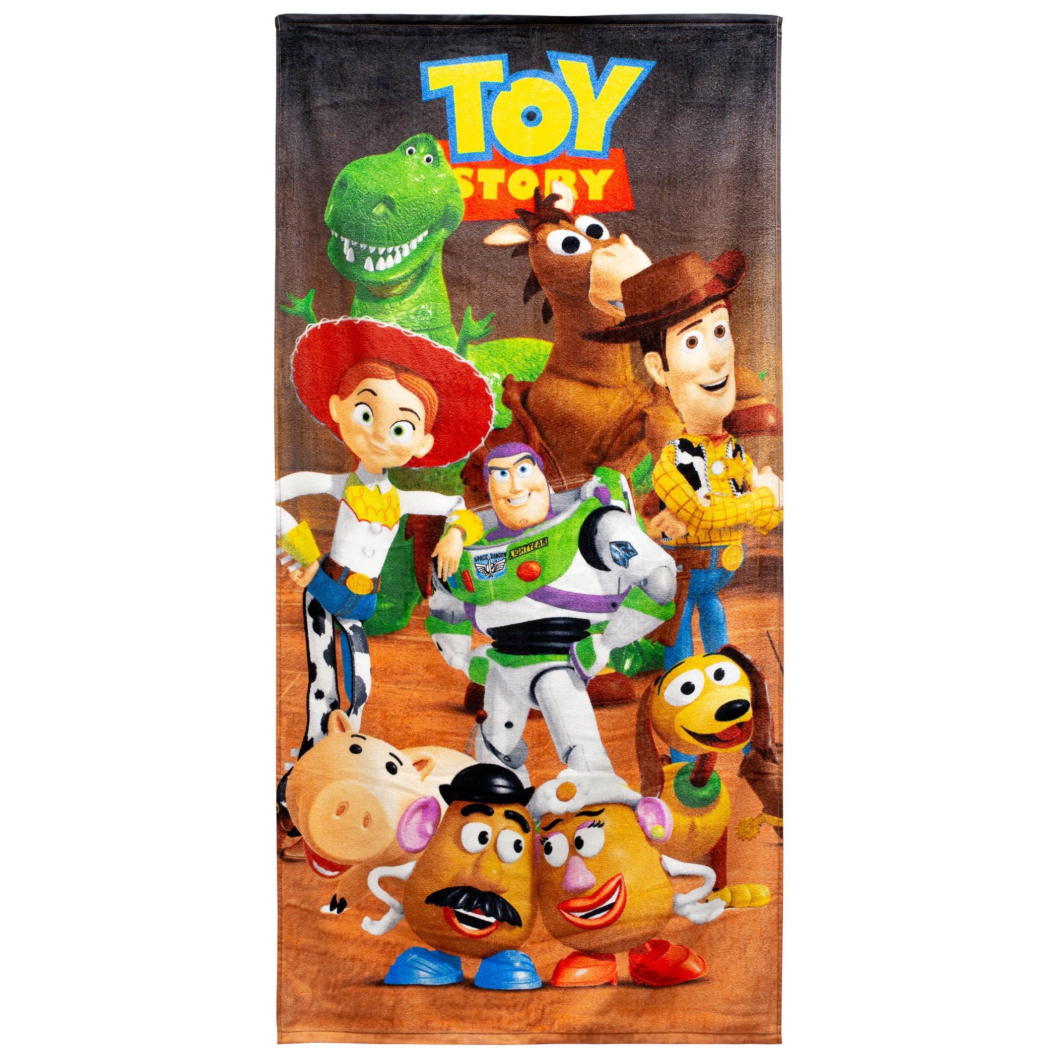 Toy Story Cast 28 X 58 Beach Towel