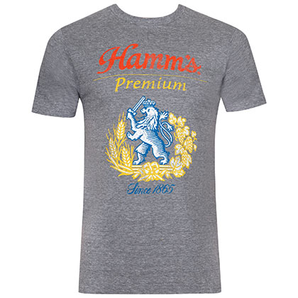 Hamm's Men's Grey Lion Logo T-Shirt