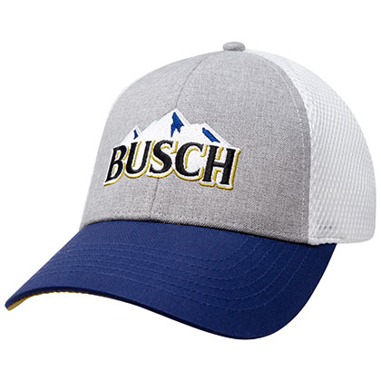 Busch Grey And White Trucker Hat