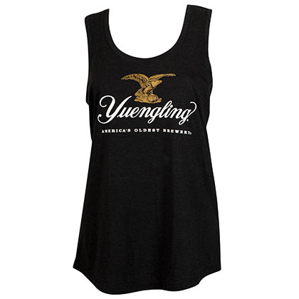 Yuengling Eagle Logo Ladies Black Tank Top
