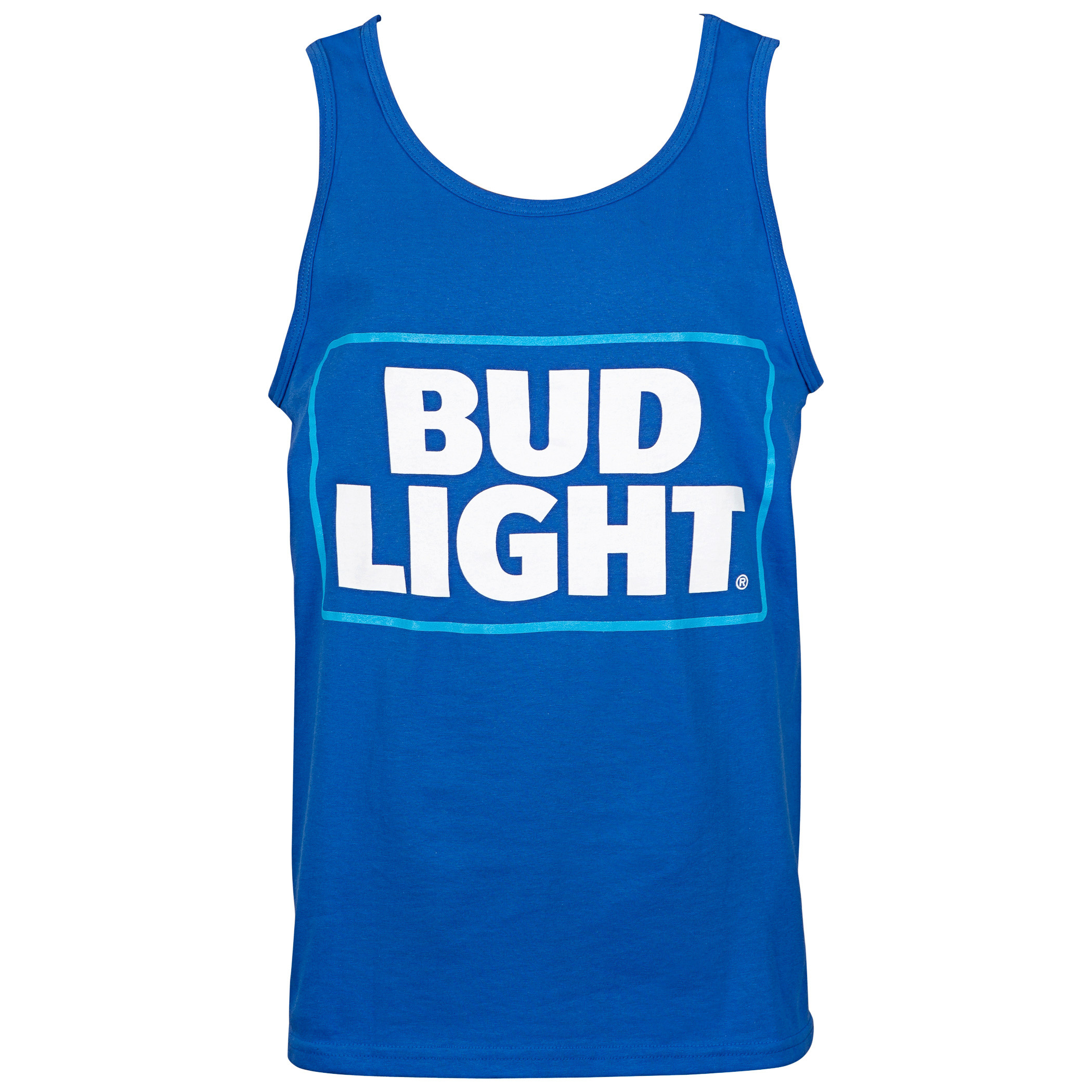 Bud Light Box Logo Men's Blue Tank Top