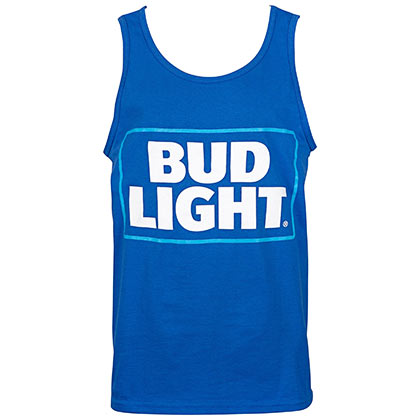 Bud Light Box Logo Men's Blue Tank Top
