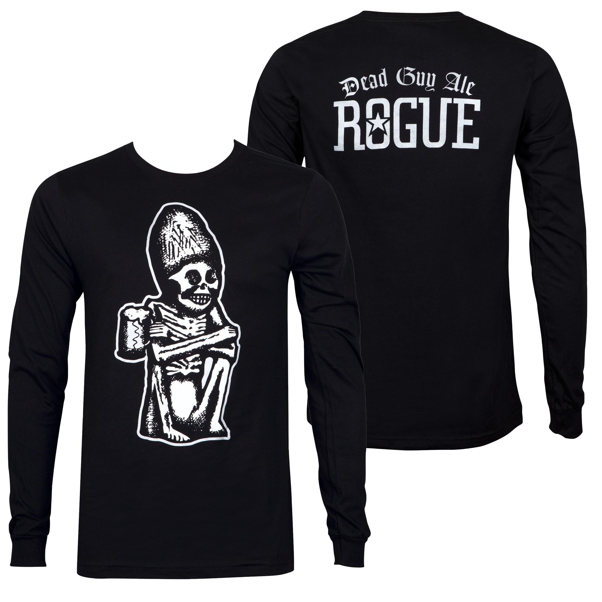2aab64d0 Rogue Ale Dead Guy Ale Black Long Sleeve Tee Shirt