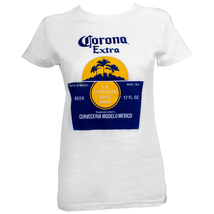 Corona Sun Bottle Label Women's Tshirt
