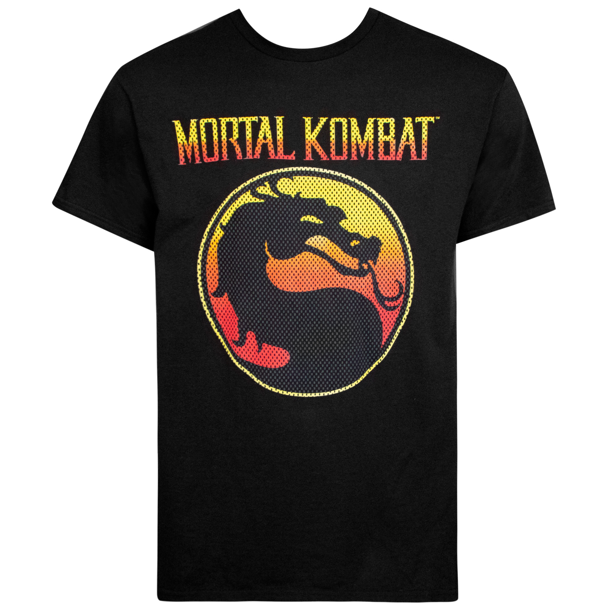 Mortal Kombat Black Classic Logo Men's T-Shirt