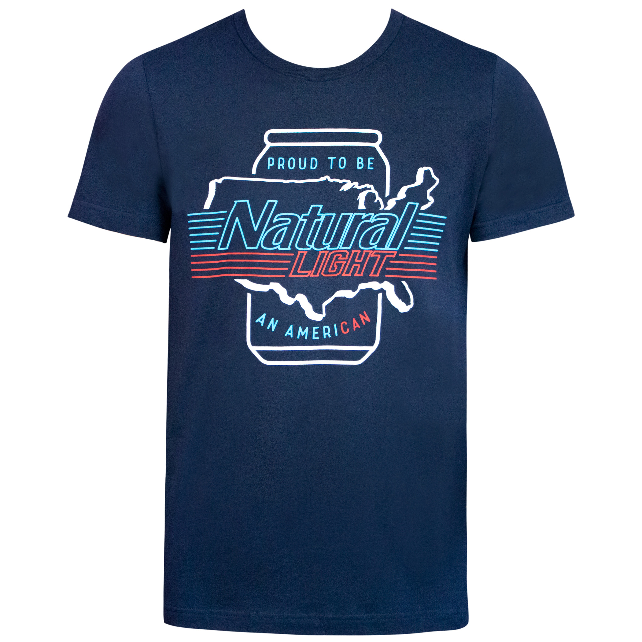 Natural Natty Light Ameri-Can Blue Tee Shirt