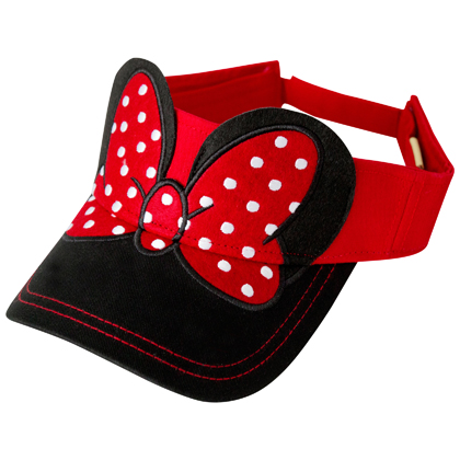 Minnie Mouse Ears and Bow Visor