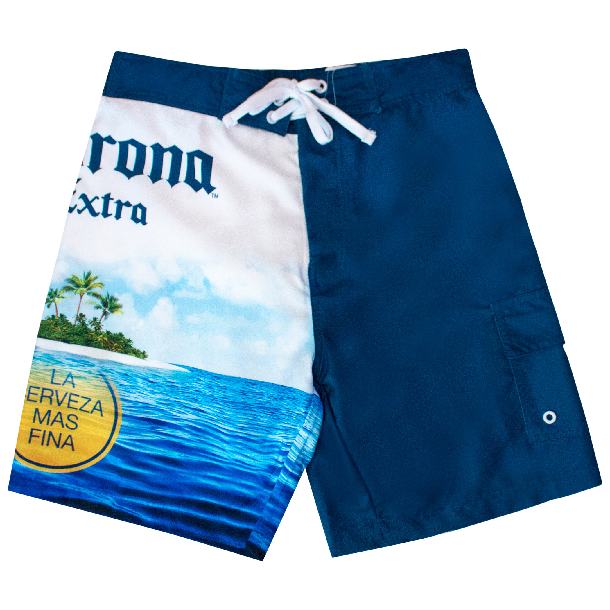 daa917fed3 Corona Extra Beach Scene Board Shorts