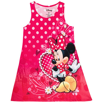 Minnie Mouse Youth Sized Tank Top Dress