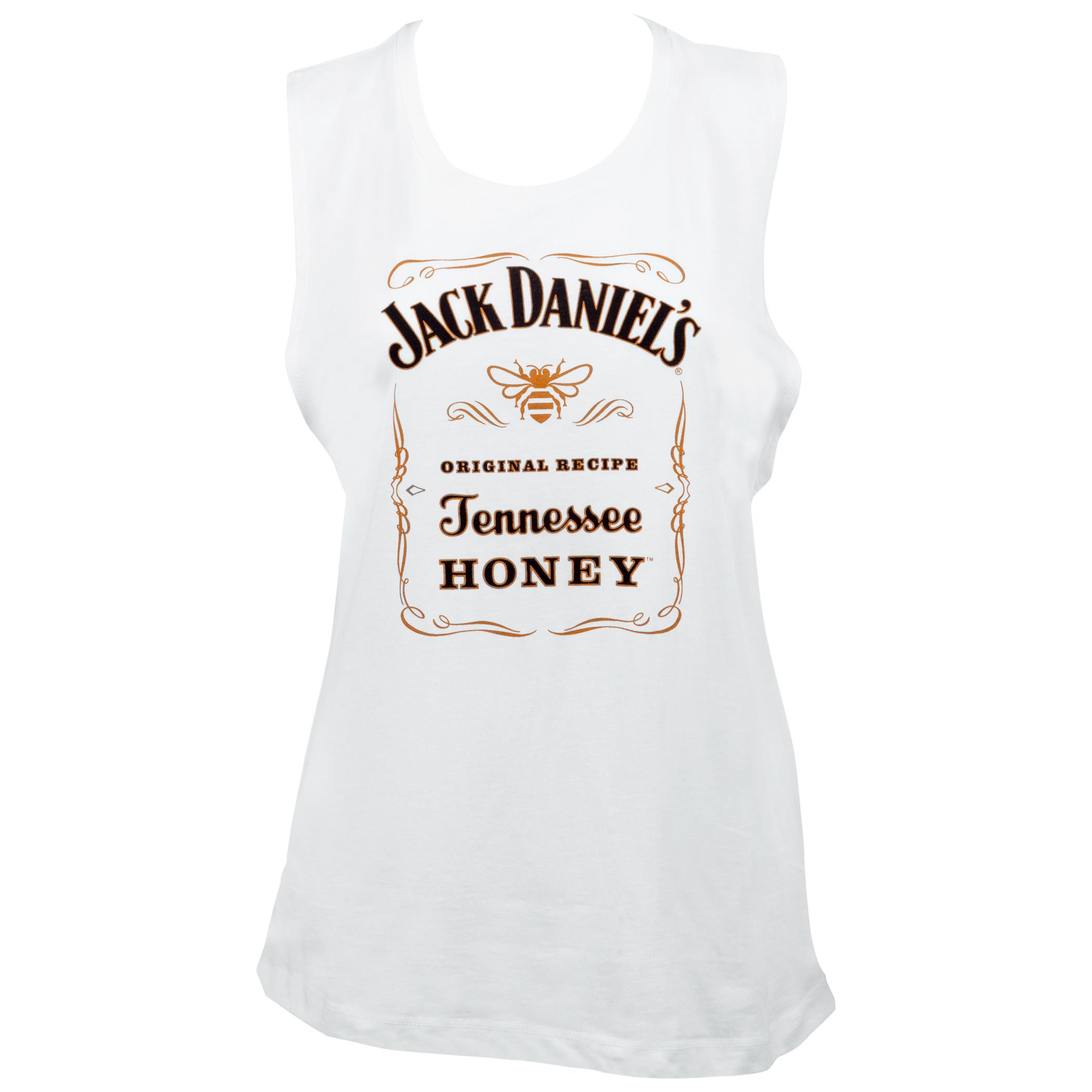 Jack Daniels Tennessee Honey Women's White Muscle Tank