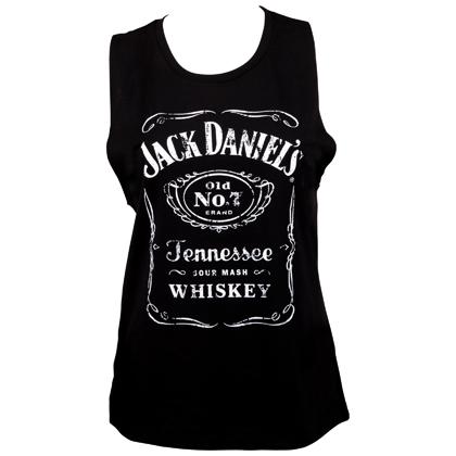 Jack Daniels Logo Women's Muscle Tank Top