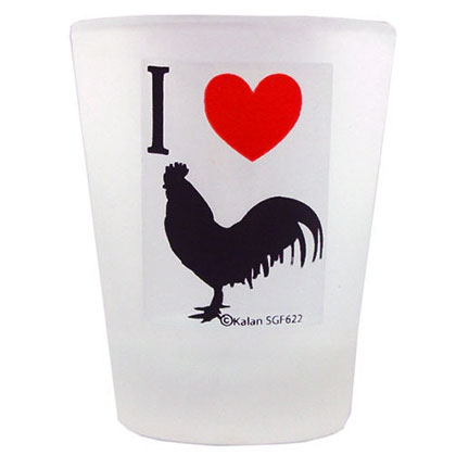I Love Cock Shot Glass