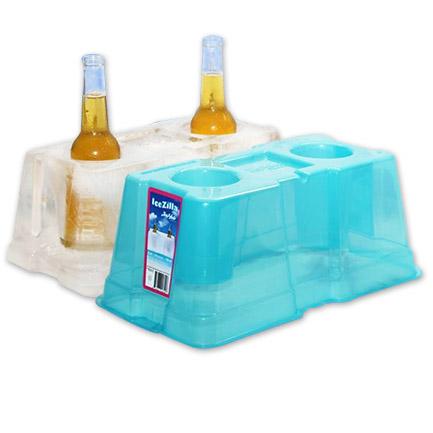 IceZilla Ice Mold Bottle Holder Cooler Kit with LED Light