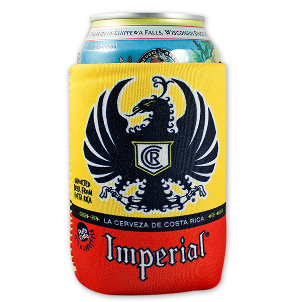 Imperial Brewing Co Cerveza Red And Yellow Beer Can Cooler