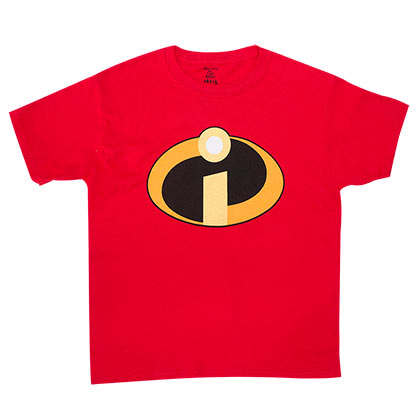 Disney The Incredibles Logo Youth Boys 8-20 Red Tee Shirt