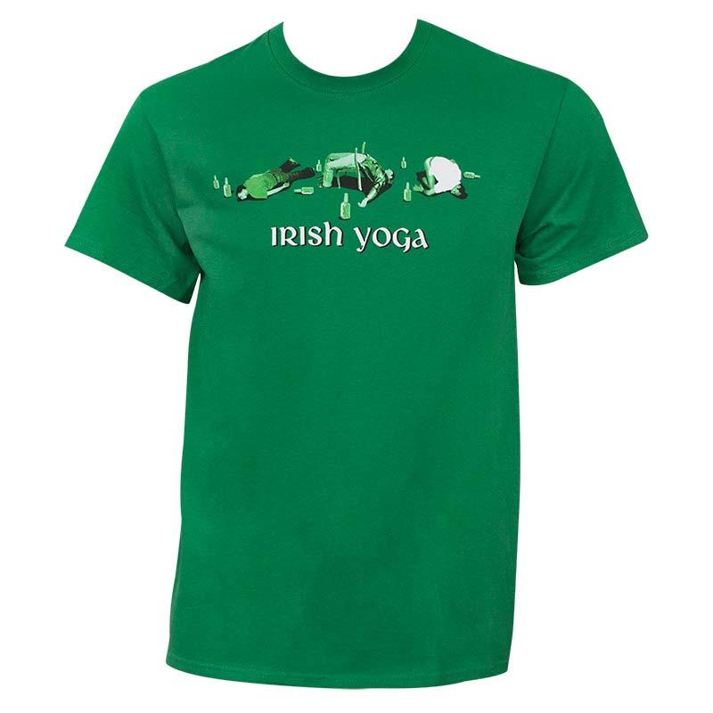 Irish Yoga St. Patrick's Day Green Graphic Tee Shirt