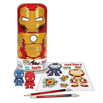 Iron Man Pencil and Erasers Set