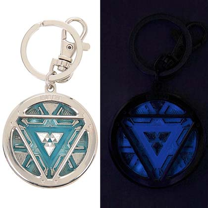 Iron Man Arc Reactor Glow Keychain