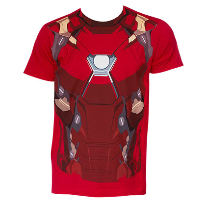 Captain America Civil War Comic Iron Man Suit Costume Shirt