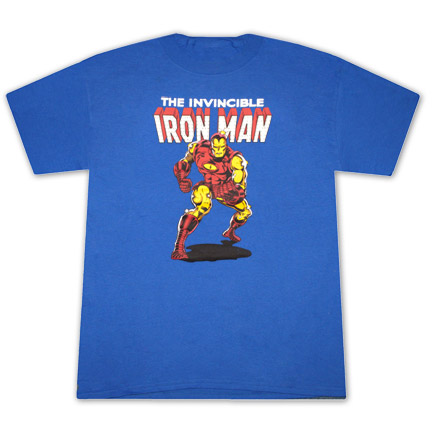 Iron Man Invincible Classic Royal Blue Graphic Tee Shirt