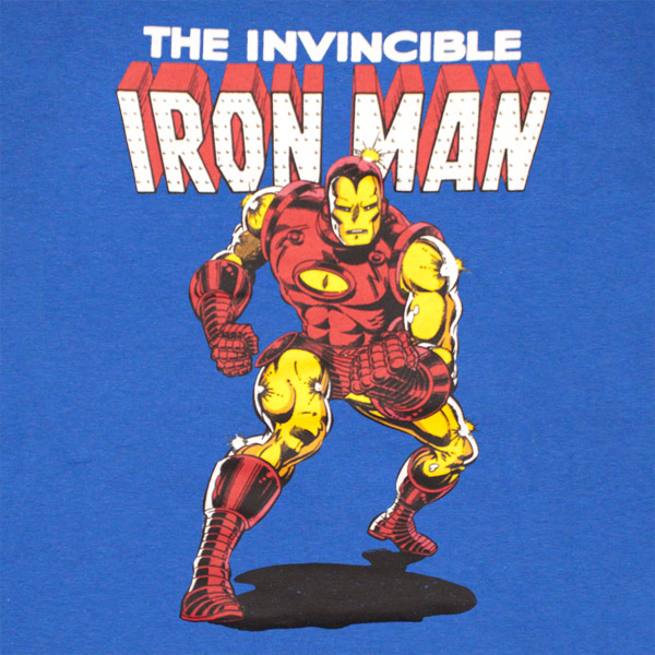 Iron Man Invincible Classic Royal Blue Graphic T Shirt