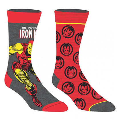 Iron Man Superhero 2 Pack Men's Crew Socks