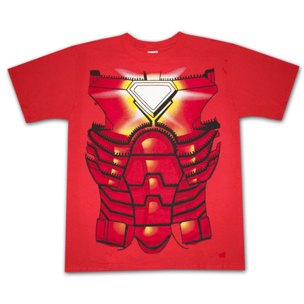 Iron Man Costume Halloween Red Graphic Tee Shirt