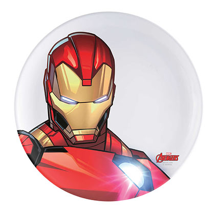 Iron Man White Melamine Dinner Plate