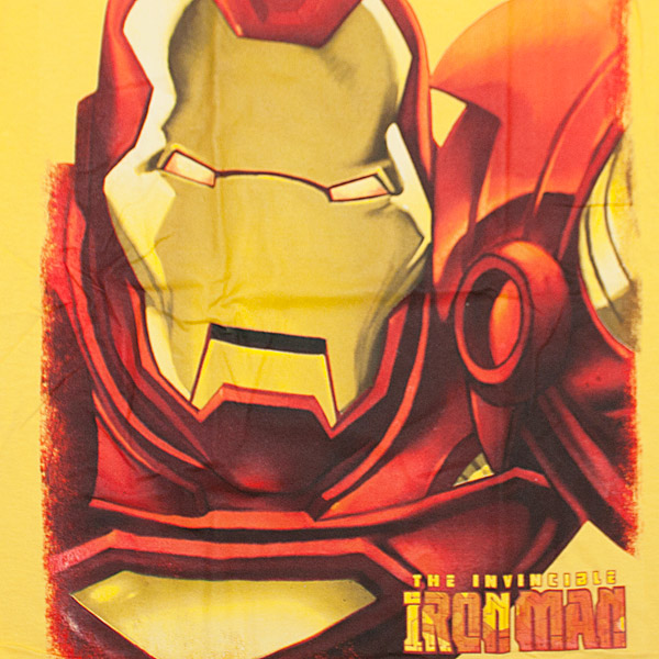 Iron Man Huge Iron Face Shirt Yellow
