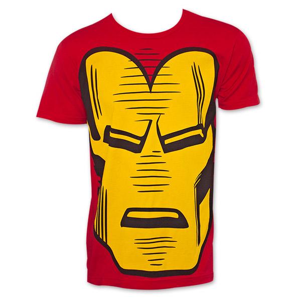 Iron man retro giant face t shirt for Retro superhero t shirts