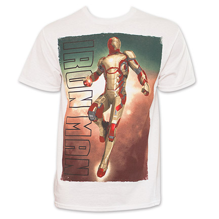 Marvel Iron Man Flying Pose Tee - White