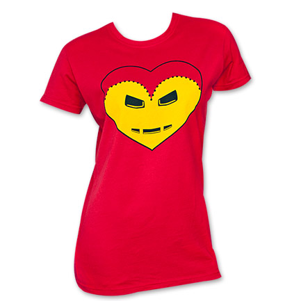 Iron Man Heart Junior's Tee
