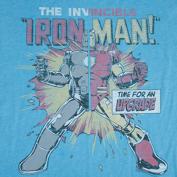 Junk Food Iron Man Blue Upgrade Tee