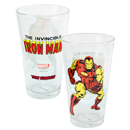 Iron Man Toon 16 Ounce Pint Glass