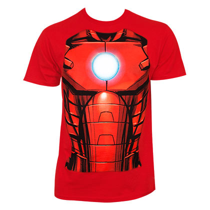 Iron Man Men's Red Sublimation Costume T-Shirt