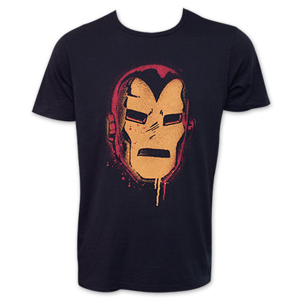 Iron Man Junk Food Painted Face Tee