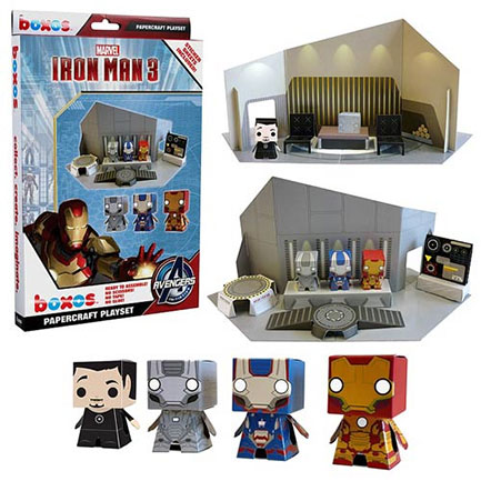 Iron Man Toy Papercraft Set