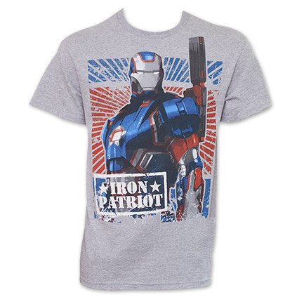 Iron Man Iron Patriot T Shirt - Gray