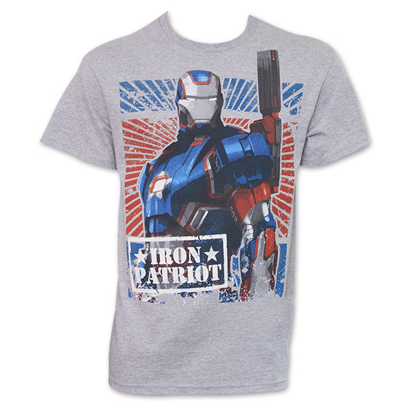 63720993 item was added to your cart. Item. Price. Iron Man Iron Patriot T Shirt -  Gray