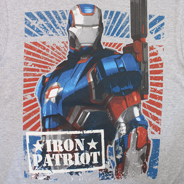 Iron Patriot Tee Shirt - Grey
