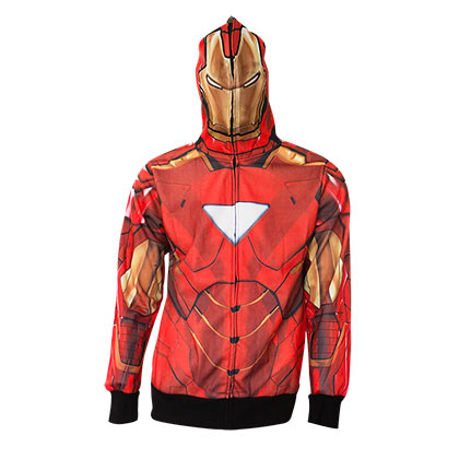 Iron Man Full Zip Costume Hoodie