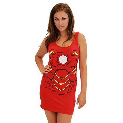 Women's Iron Man Comic Cotton/Spandex Tank Dress